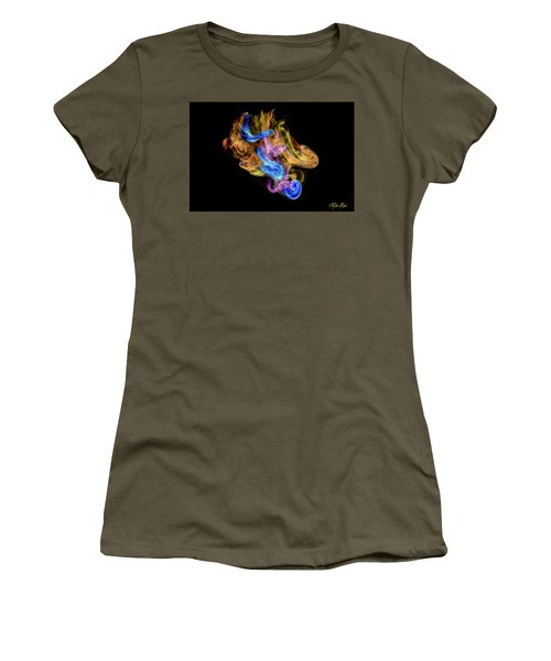 Women's T-Shirt (Athletic Fit) featuring the photograph Colored Vapors by Rikk Flohr