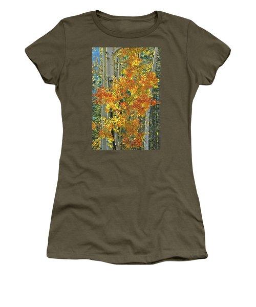 Colorful Aspen Along Million Dollar Highway Women's T-Shirt (Athletic Fit)