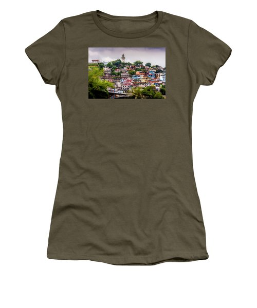 Colorful Houses On The Hill Women's T-Shirt