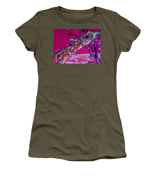 Colorful Giraffe Women's T-Shirt (Athletic Fit)