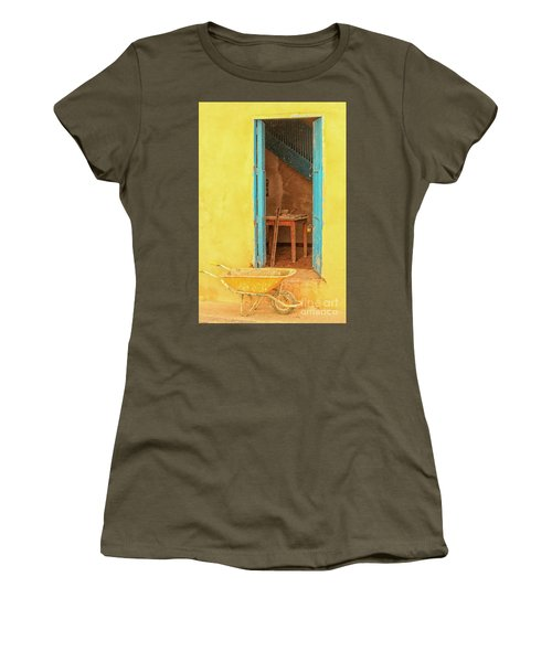 Colorful House  Women's T-Shirt (Athletic Fit)