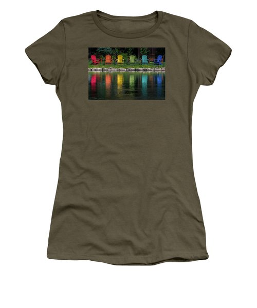 Colorful  Women's T-Shirt (Junior Cut) by Martina Thompson