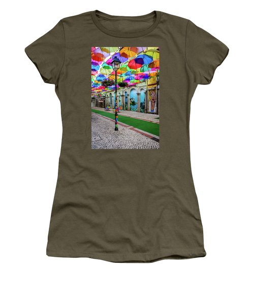 Colorful Street Women's T-Shirt (Junior Cut) by Marco Oliveira