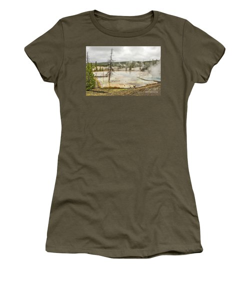 Women's T-Shirt (Athletic Fit) featuring the photograph Colorful Thermal Pool by Sue Smith