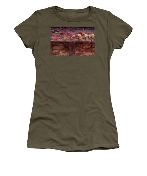 Women's T-Shirt (Junior Cut) featuring the photograph Colorful Tree Leaves Changing Color For Auyumn,fall Season In Oc by Jingjits Photography