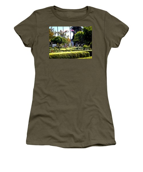 Women's T-Shirt (Junior Cut) featuring the photograph Colors In The Garden by Glenn McCarthy Art and Photography