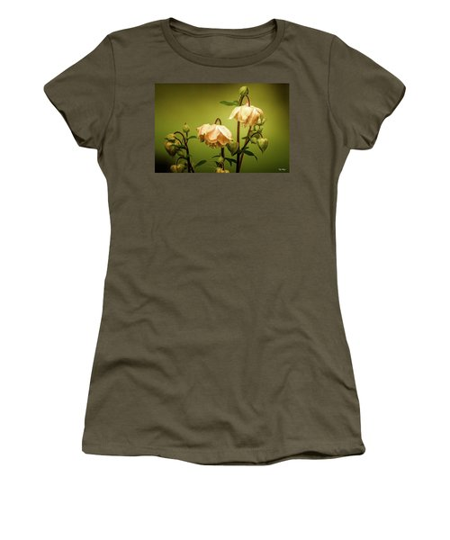 Columbines In Summer Women's T-Shirt (Junior Cut) by Skip Tribby