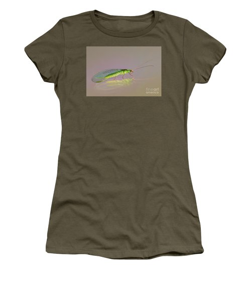 Common Green Lacewing - Chrysoperla Carnea Women's T-Shirt (Athletic Fit)