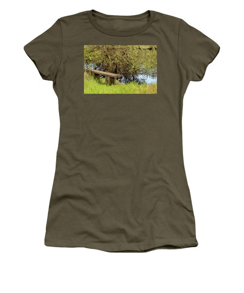 Women's T-Shirt (Junior Cut) featuring the photograph Communing With Nature by Art Block Collections