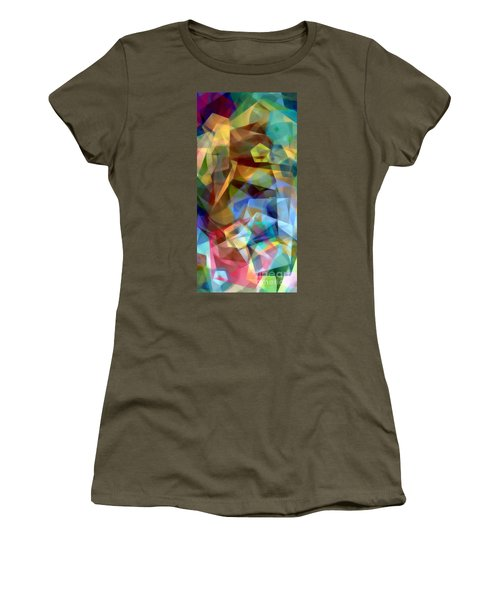 Women's T-Shirt (Athletic Fit) featuring the digital art Complicated Sunset by Rafael Salazar