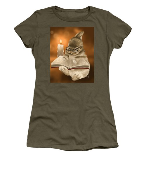 Women's T-Shirt (Junior Cut) featuring the painting Concentration  by Veronica Minozzi