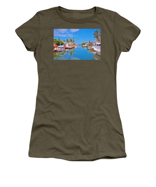 Conch Key Waterfront Living 3 Women's T-Shirt