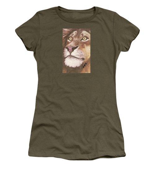 Concrete Lion Women's T-Shirt (Athletic Fit)