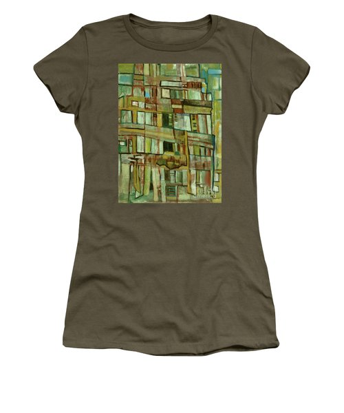 Women's T-Shirt (Junior Cut) featuring the painting Condo by Paul McKey