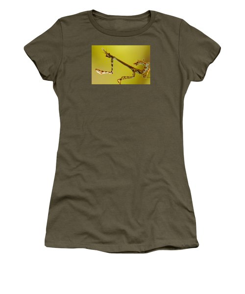 Women's T-Shirt (Junior Cut) featuring the photograph Cone Head Mantis by Richard Patmore