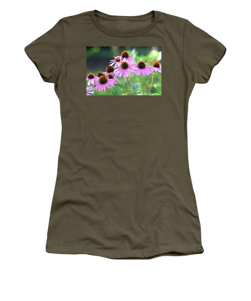 Women's T-Shirt (Athletic Fit) featuring the photograph Coneflowers by Trina Ansel
