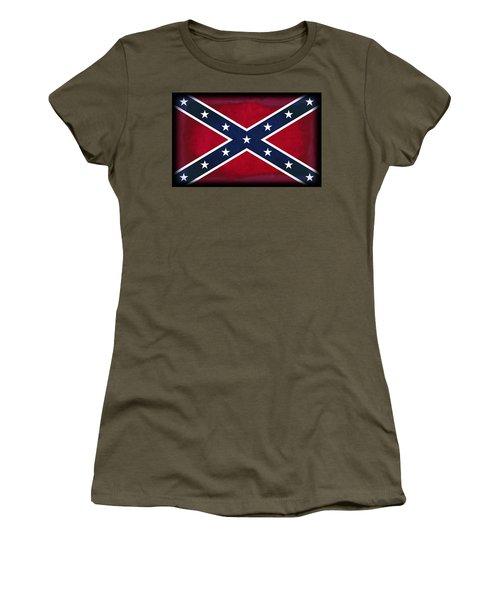 Confederate Rebel Battle Flag Women's T-Shirt