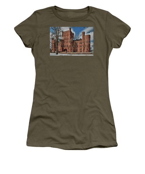 Women's T-Shirt (Junior Cut) featuring the photograph Connecticut Street Armory 3997a by Guy Whiteley