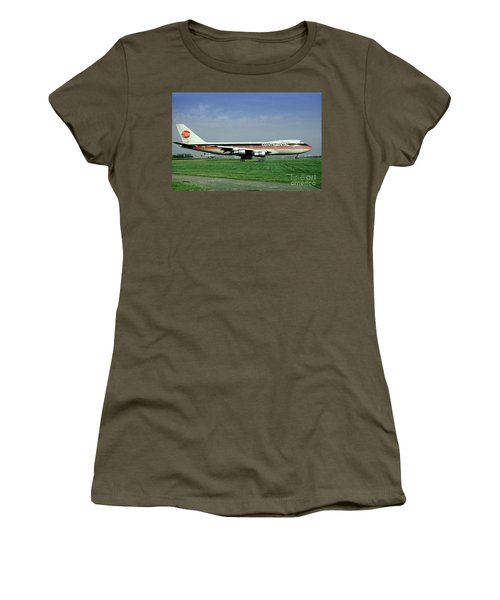Continental Airlines Boeing 747-243b, N605pe, October 1988 Women's T-Shirt (Athletic Fit)