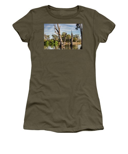Contrasted Women's T-Shirt (Junior Cut) by Douglas Barnard
