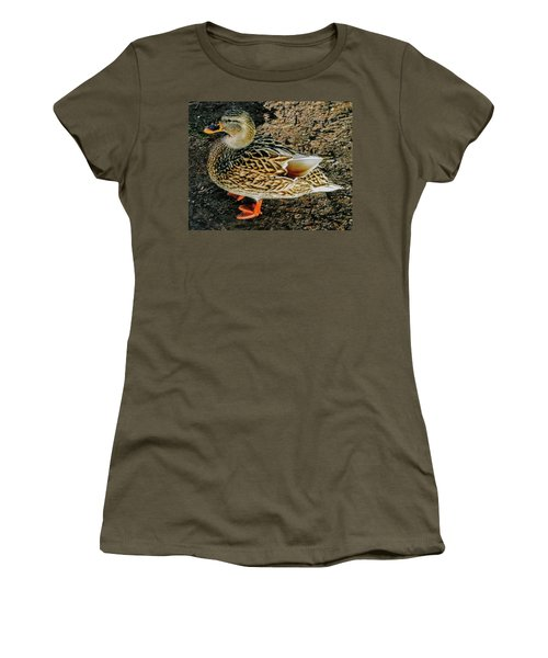 Women's T-Shirt (Athletic Fit) featuring the photograph Cool Duck by Roger Bester