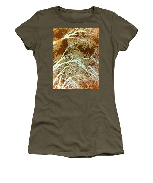 Women's T-Shirt featuring the photograph Cottonwood Conflux by Cris Fulton