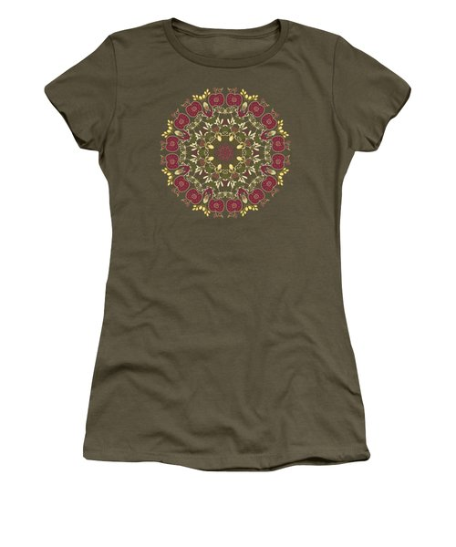 Country Apple Kaleidoscope Pattern Women's T-Shirt (Athletic Fit)