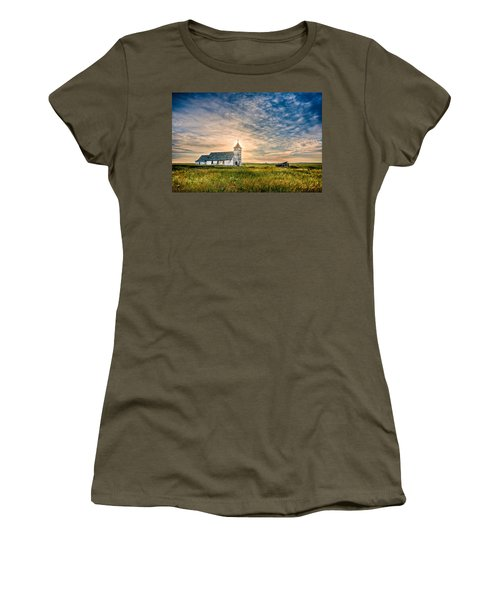 Country Church Sunrise Women's T-Shirt