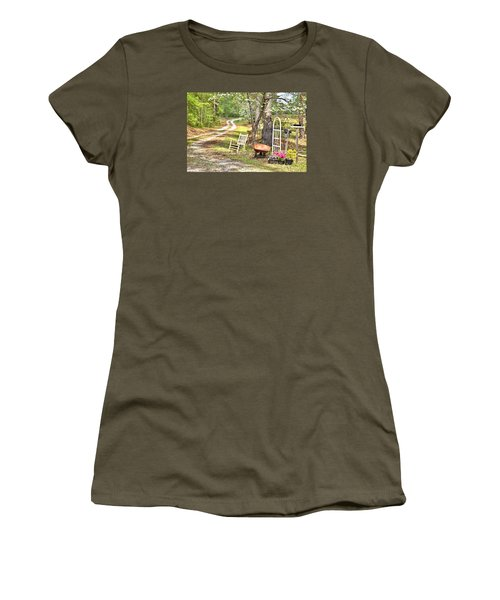 Country Driveway In Springtime Women's T-Shirt