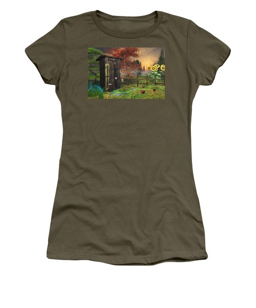 Country Outhouse Women's T-Shirt