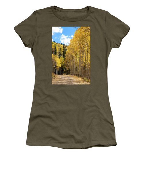 Women's T-Shirt (Junior Cut) featuring the photograph Country Roads by David Chandler