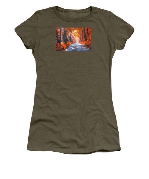 Country Roads Women's T-Shirt (Junior Cut) by Geraldine DeBoer