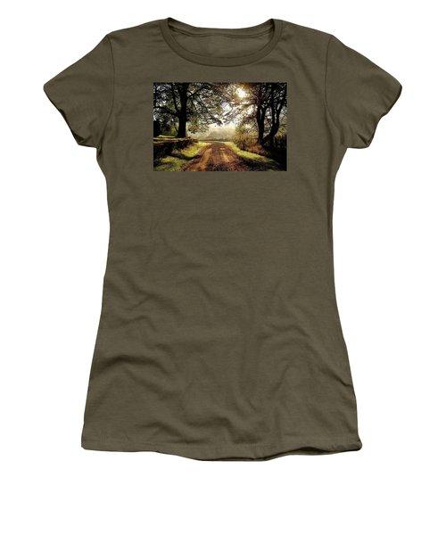 Country Roads Women's T-Shirt (Junior Cut) by Ronda Ryan