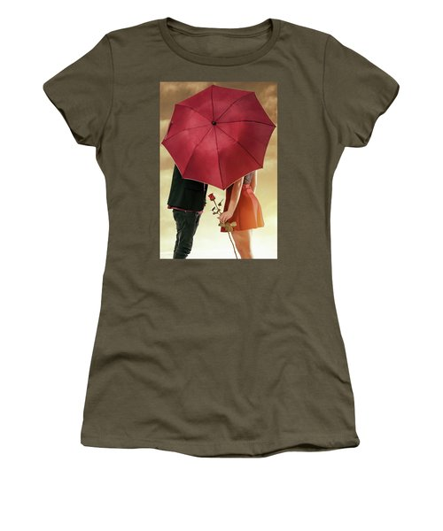 Women's T-Shirt (Junior Cut) featuring the photograph Couple Of Sweethearts by Carlos Caetano