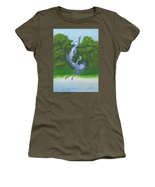 Courtship Dance Women's T-Shirt (Junior Cut) by Mike Robles