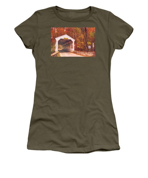 Covered Bridge At Valley Forge Women's T-Shirt