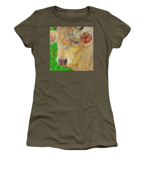 Cute And Curly Cow Women's T-Shirt (Athletic Fit)