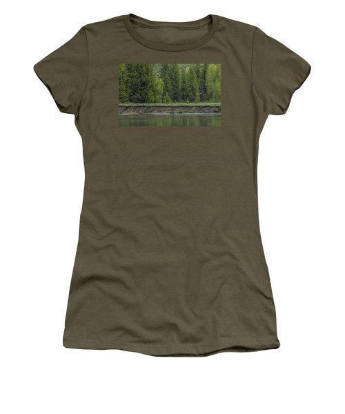 Cow Elk On The Riverbank Women's T-Shirt (Athletic Fit)