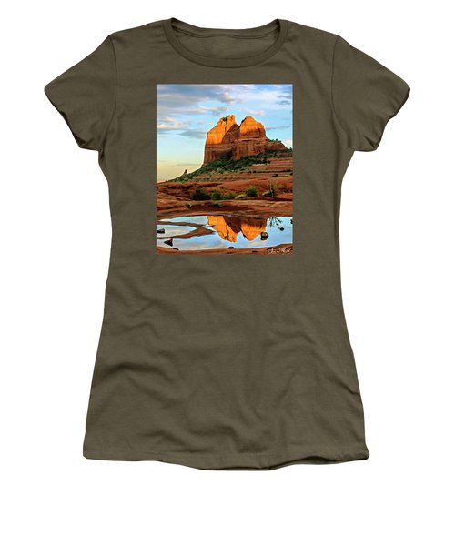 Cowpie 07-075 Women's T-Shirt (Junior Cut) by Scott McAllister