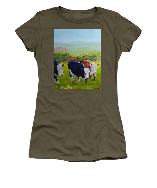 Cows And English Landscape Women's T-Shirt