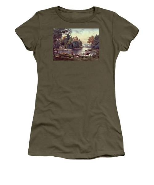 Cows On The Shore Of A Lake Women's T-Shirt