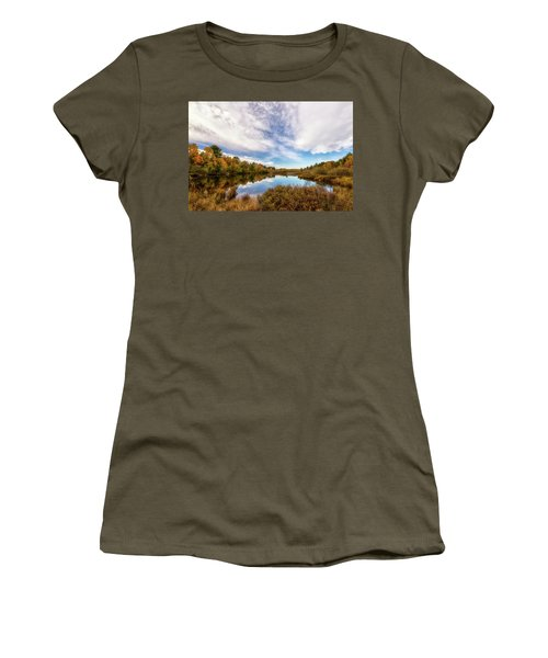 Women's T-Shirt featuring the photograph Cox Pond 1 by Heather Kenward
