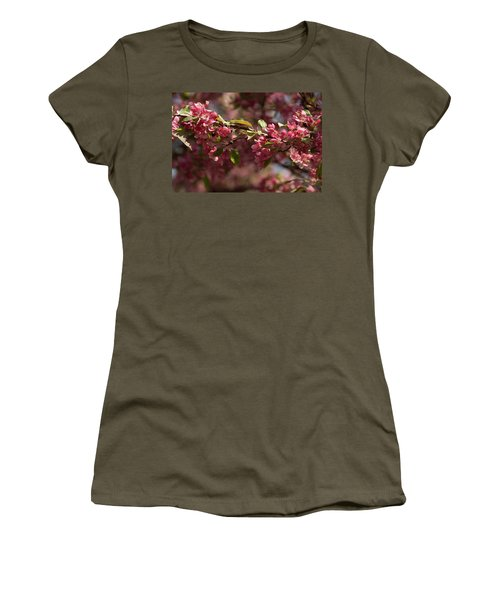 Crabapple In Spring Section 3 Of 4 Women's T-Shirt