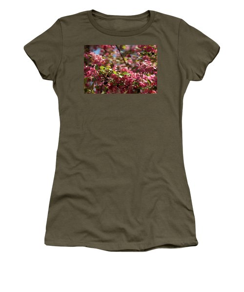 Crabapple In Spring Section 4 Of 4 Women's T-Shirt