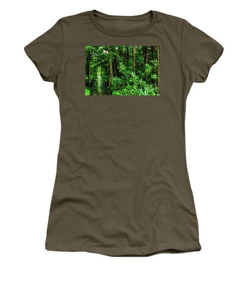 Cranberry Glades Boardwalk Women's T-Shirt (Athletic Fit)