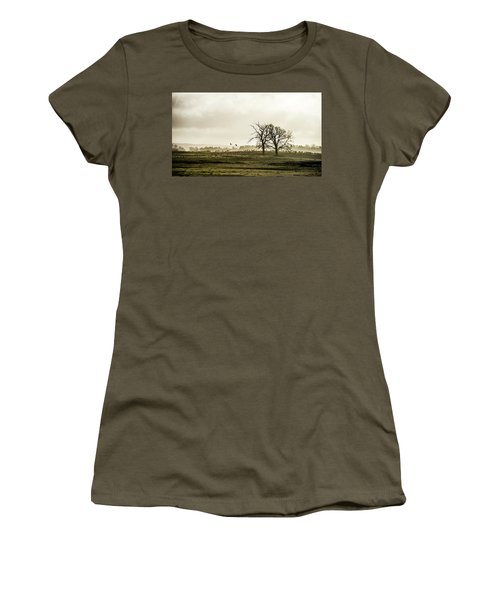 Women's T-Shirt (Junior Cut) featuring the photograph Crane Hill by Torbjorn Swenelius