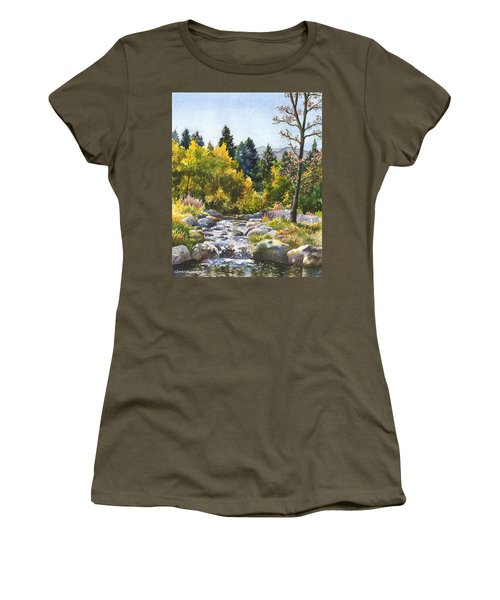 Creek At Caribou Ranch Women's T-Shirt (Junior Cut) by Anne Gifford