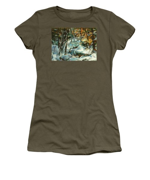 Creek In The Cold Women's T-Shirt (Athletic Fit)