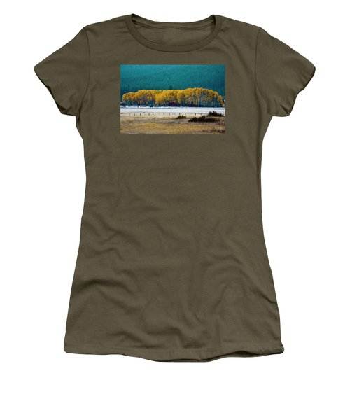 Crisp Aspen Morning Women's T-Shirt (Athletic Fit)