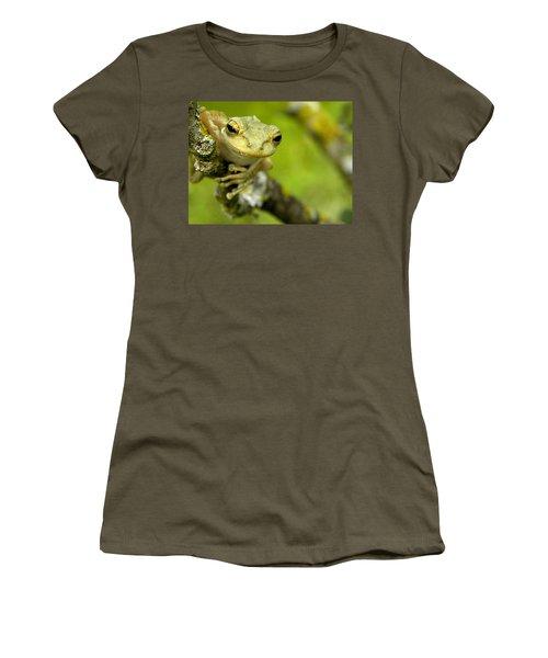 Cuban Tree Frog 000 Women's T-Shirt (Junior Cut) by Chris Mercer